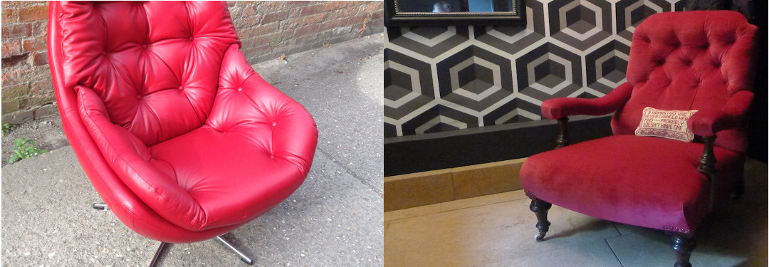 Modern furniture upholstery in fabric and leather