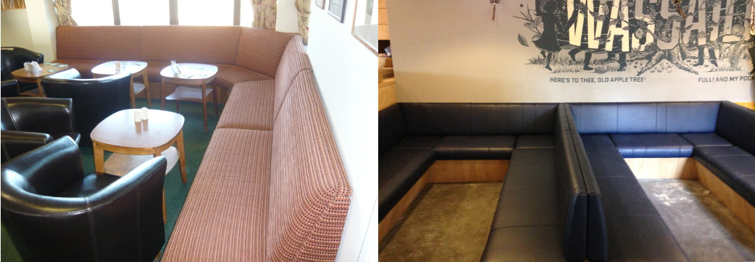 Custom made seating for hotels, bars and restaurants.