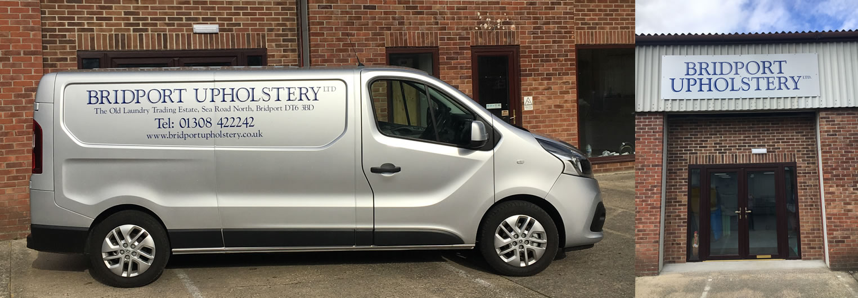 Bridport Upholstery workshop and van